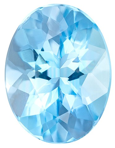 A Wonderful Find  Blue Aqua Genuine Gemstone, 1.07 carats, Oval Shape, 7.8 x 6 mm