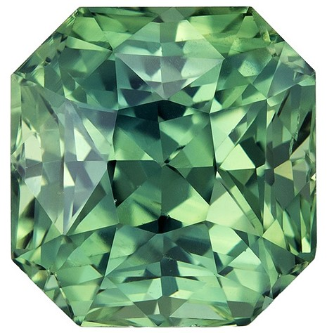 A Wonderful Find  Blue Green Sapphire Genuine Gemstone, 2.58 carats, Radiant Shape, 7.1 x 6.8 mm
