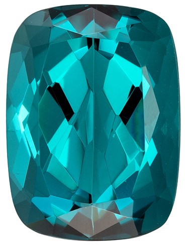 Truly Stunning  Blue Tourmaline Genuine Gemstone, 3.35 carats, Cushion Shape, 10.1 x 7.4 mm