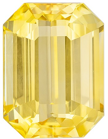 A Wonderful Find!  Octagon  Cut Faceted Yellow Sapphire Loose Gemstone, 4.54 carats, 10 x 7.4 mm , Big Presence