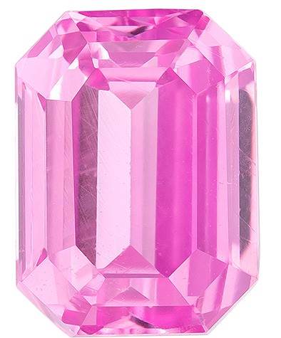 A Wonderful Find!  Octagon Cut Genuine Pink Sapphire Gemstone, 2.01 carats, 7.5 x 5.6 mm , Such Color