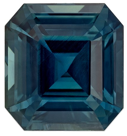 A Wonderful Find Asscher Cut Loose Blue Green Sapphire Loose Gemstone, 4.05 carats, 8.92 x 8.27 x 5.7 mm with GIA Certificate, Very Bright Gem