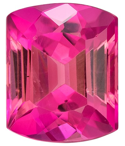 Super Fine Gem!  Pink Tourmaline Genuine Gemstone, 2.82 carats, Emerald Shape, 9.3 x 7.5 mm