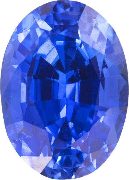 AGL Certified Oval Royal Blue Sapphire Gemstone, Stunning Gem in 8.7 x 6.4 mm, 2.09 carats