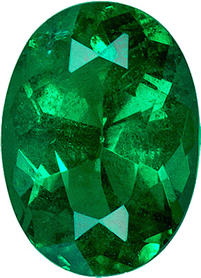 Alluring Brazilian Vivid Green Genuine Emerald Gemstone for SALE - Excellent Cut, 7 x 5.1 mm, 0.82 carats