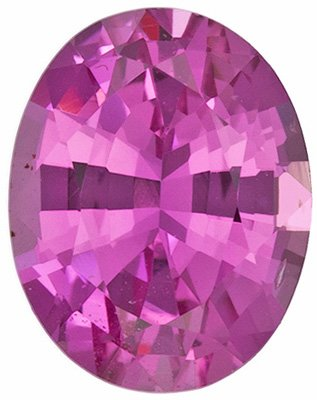 Alluring Ceylon Pink Sapphire Stone - Attractive & Desirable Rich Color, Oval Cut, 1.29 carats