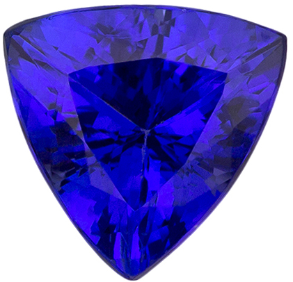 Amazing Deep Color in Tanzanite Trillion Cut Gem, Stunning Rich Blue Purple Color in 7.2 mm, 1.43 carats