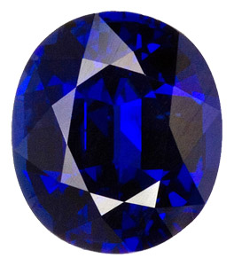Amazing Rich Royal Blue Sapphire - Bright & Lively - Very Attractive Stone, Oval Cut, 2.44 carats