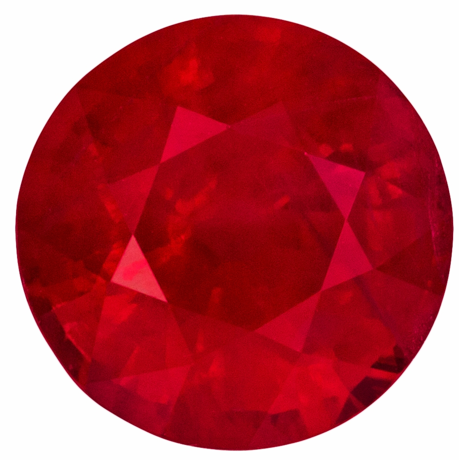 Amazing Size and Quality in 2.07 carat Ruby Round shaped gemstone, 7.43 x 4.89 mm