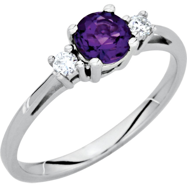 Must See Amethyst & Diamond Accented Ring