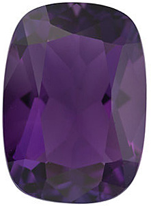 Faceted  Amethyst Gemstone in Antique Cushion Shape Grade AA 14.00 x 10.00 mm in Size 6.2 carats