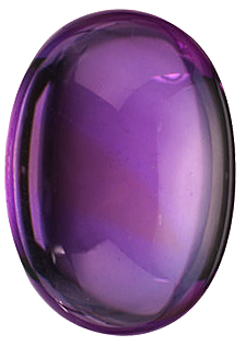Loose Amethyst Standard Size Gemstone in Oval Shape Cabochon Grade A 14.00 x 10.00 mm in Size 7.15 carats