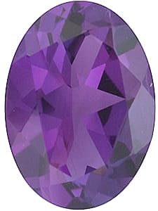 Loose Faceted Amethyst Gemstone in Oval Shape Grade AA 14.00 x 12.00 mm in Size 7 carats