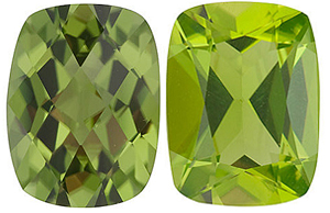 <b>Peridot Antique Cushion Cut - Calibrated</b>