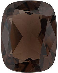 Antique Cushion Cut Smokey Quartz in Grade AAA