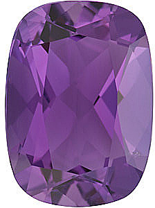 Antique Cushion Genuine Amethyst Gemstone in Grade A