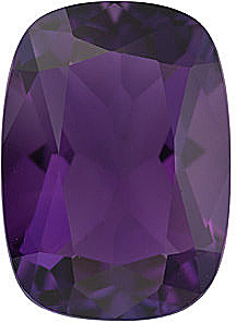 Antique Cushion Genuine Amethyst in Grade AA