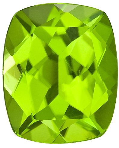 Antique Cushion Peridot in Grade AAA