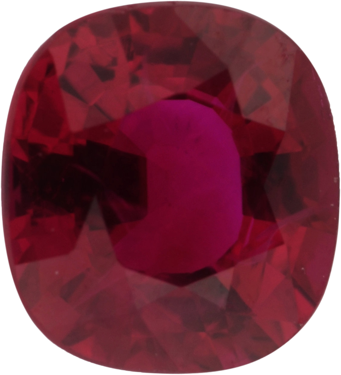 1.05 carats Ruby Loose Gemstone in Antique Cushion Cut, Strong Red, 5.97 x 5.49 mm
