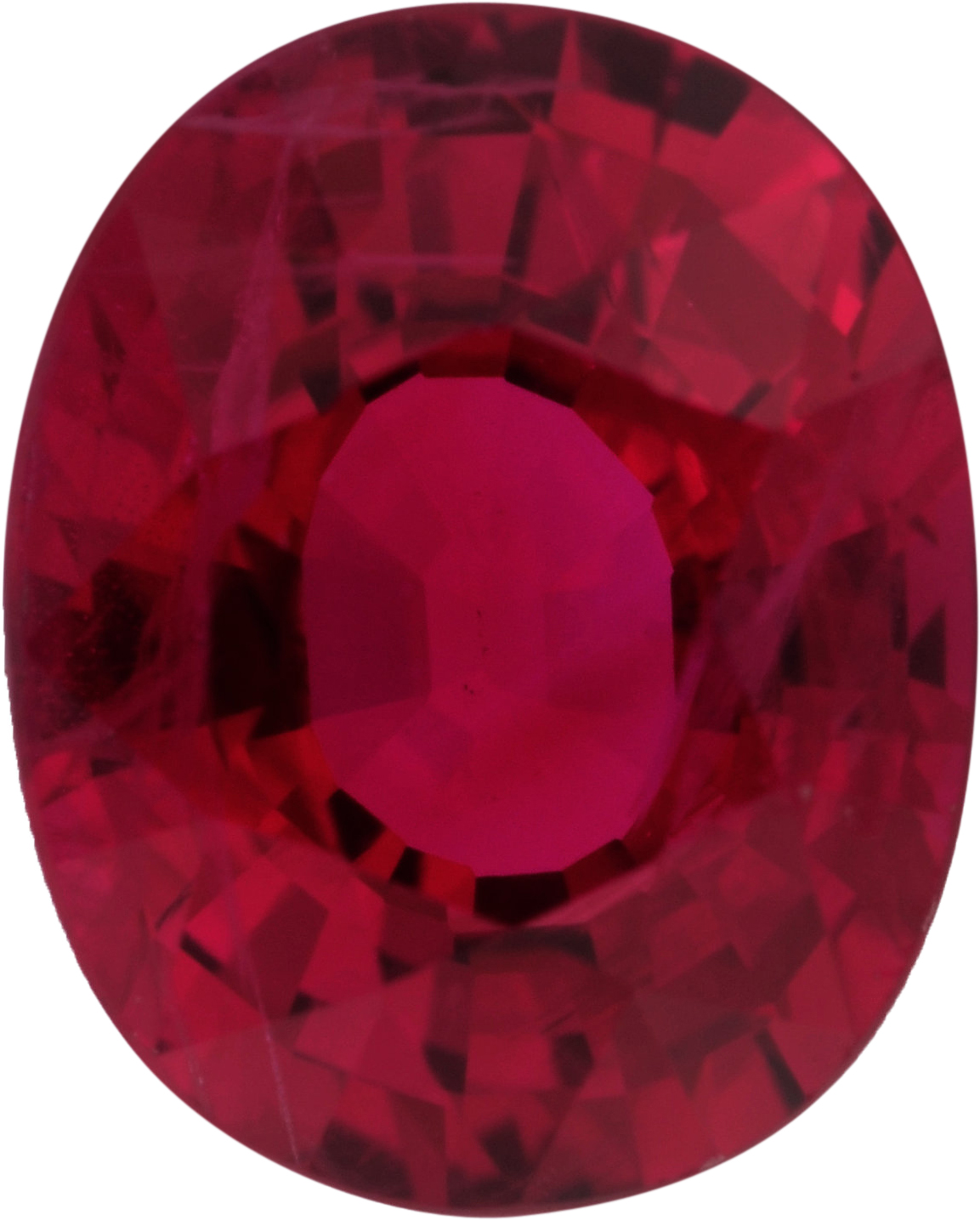 1.24 carats Ruby Loose Gemstone in Antique Cushion Cut, Strong Red, 7 x 5.64 mm
