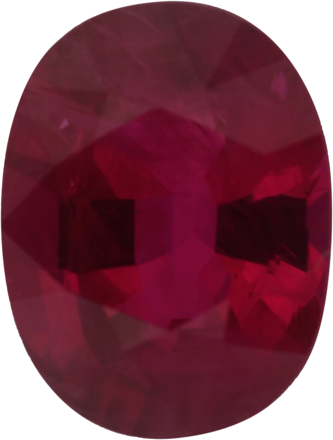 1.1 carats Ruby Loose Gemstone in Antique Cushion Cut, Strong Red, 7.27 x 5.54 mm