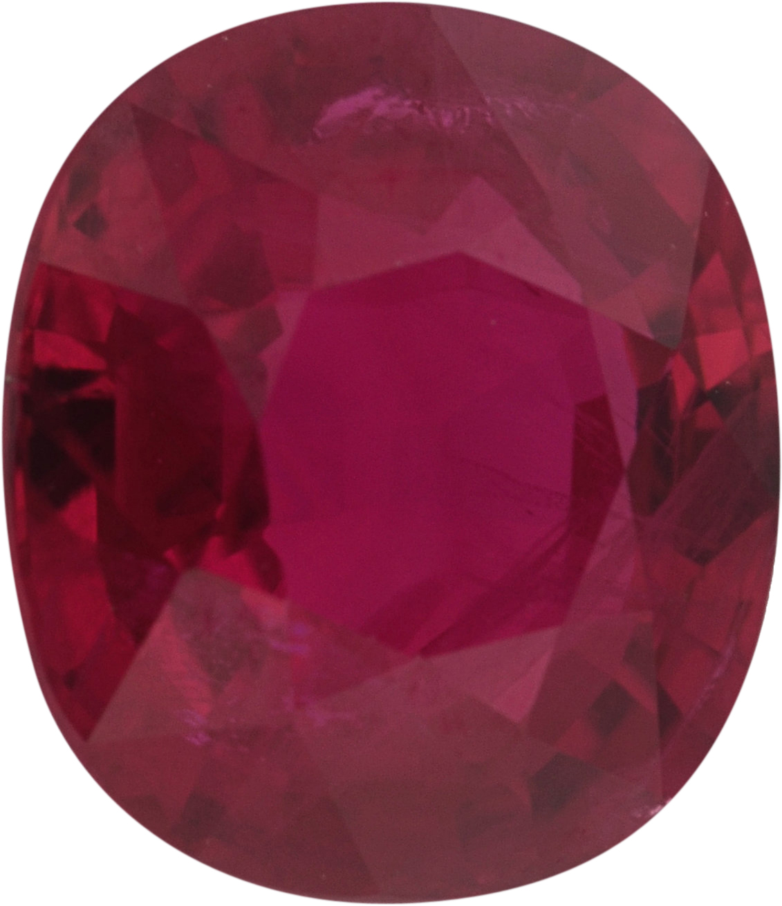1.16 carats Ruby Loose Gemstone in Antique Cushion Cut, Brownish Red, 6.33 x 5.67 mm