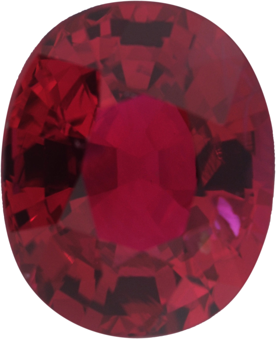 1.11 carats Ruby Loose Gemstone in Antique Cushion Cut, Strong Red, 6.63 x 5.38 mm