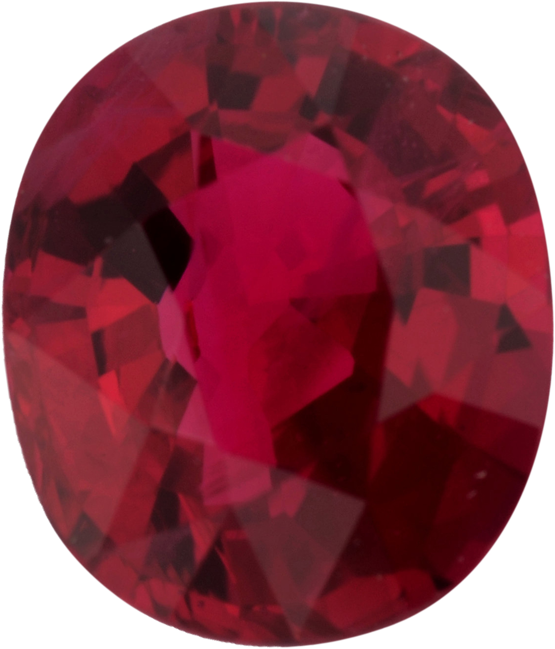 6.42 x 5.44 mm, Antique Cushion Cut Genuine Ruby Gem, Strong Red, 1.01 carats