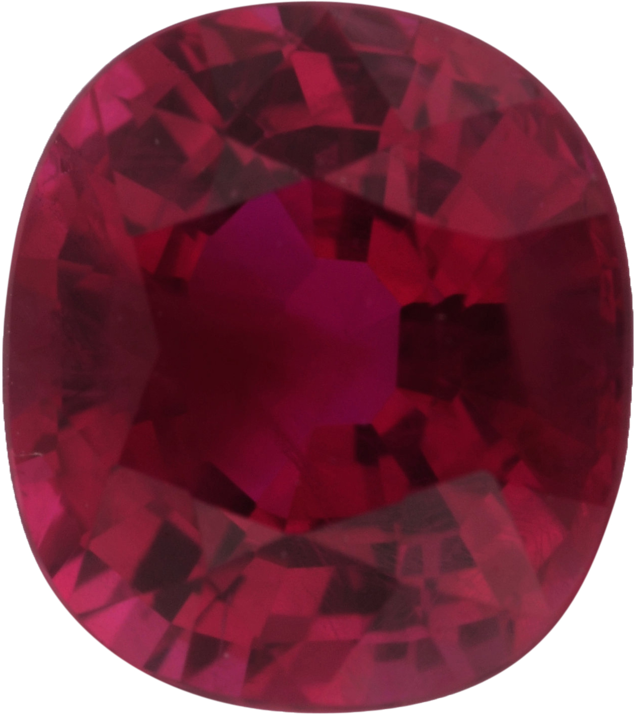 1.36 carats Ruby Loose Gemstone in Antique Cushion Cut, Brownish Red, 6.67 x 5.96 mm