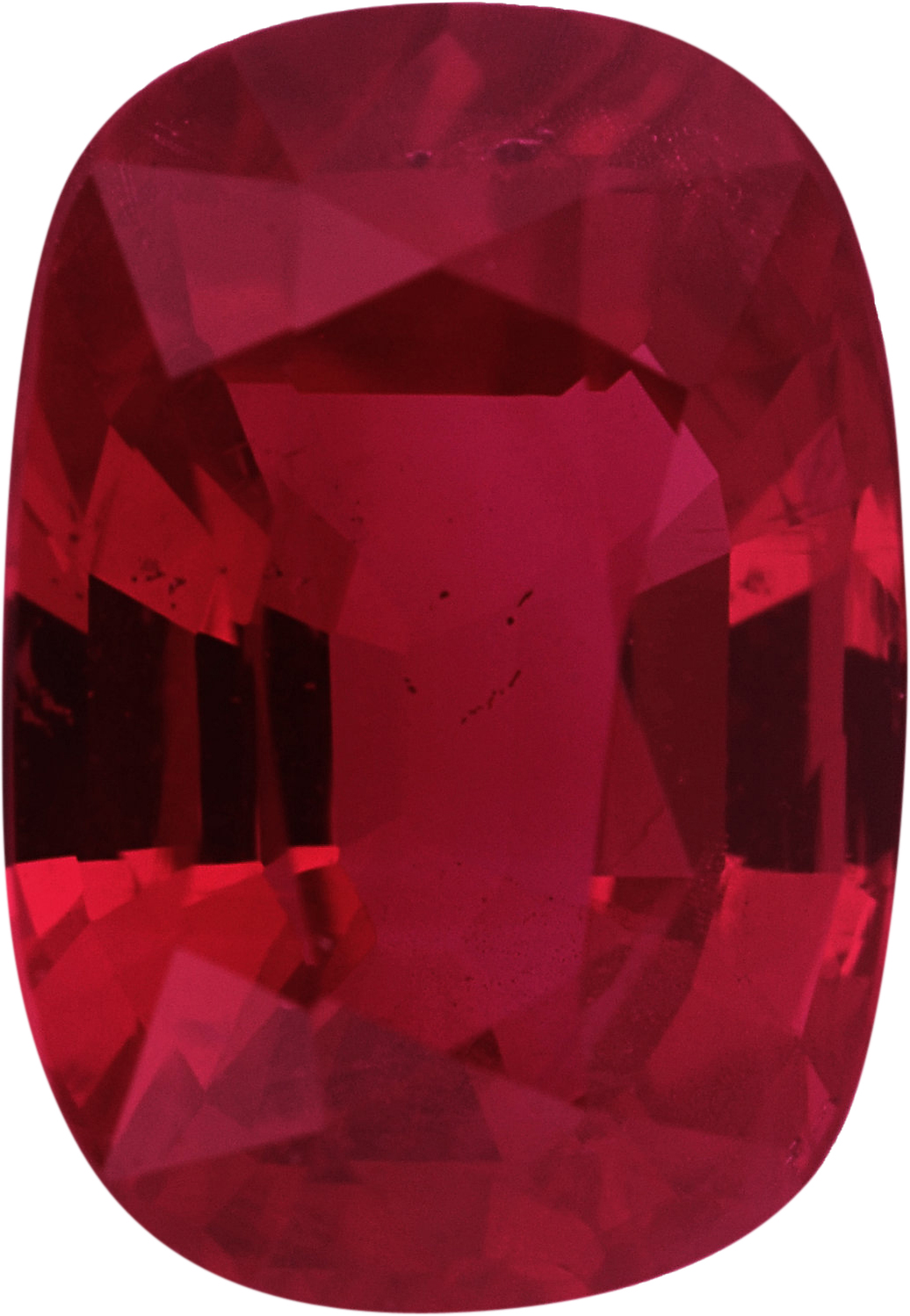 1.94 carats Ruby Loose Gemstone in Antique Cushion Cut, Orangy Red, 8.03 x 5.63 mm
