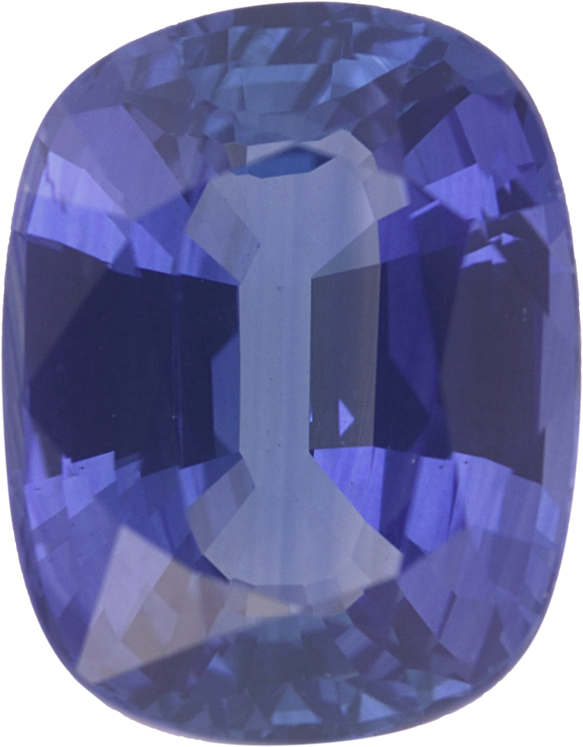 8.94 x 6.97 mm, Blue Loose Sapphire Gemstone in Antique Cushion Cut, Violetish Blue, 2.64 carats