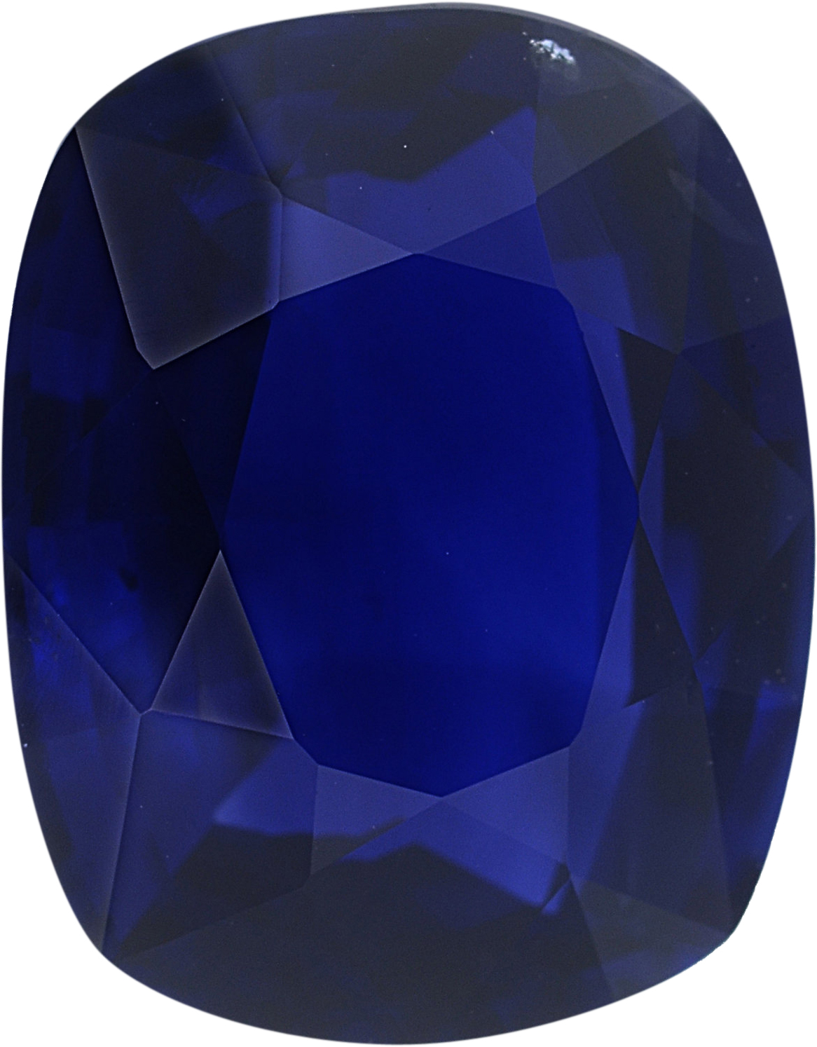 9.63 x 7.72 mm, Blue Loose Sapphire Gemstone in Antique Cushion Cut, Violetish Blue, 3.29 carats