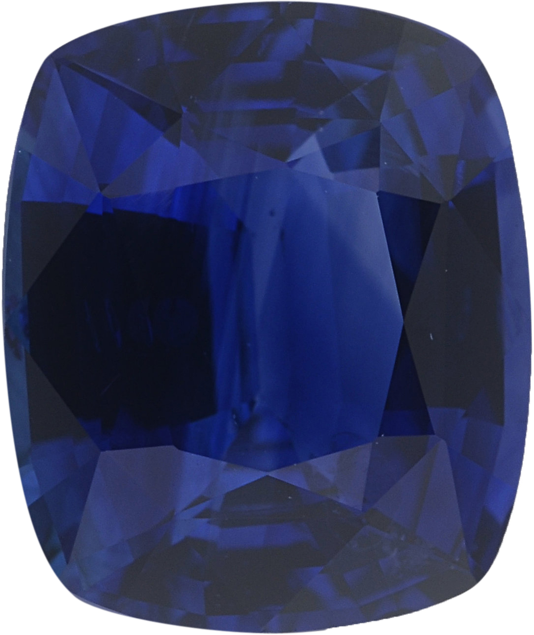 8.54 x 7.16 mm, Blue Loose Sapphire Gemstone in Antique Cushion Cut, Violetish Blue, 2.37 carats