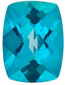 Gemstone Antique Cushion Shape Checkerboard Paraiba Passion Topaz Genuine Cut Quality Gemstone Grade AAA, 8.00 x 6.00 mm in Size