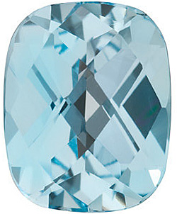 Beautiful Genuine Standard Size Antique Cushion Shape Checkerboard Sky Blue Topaz Gemstone Grade AAA, 10.00 x 8.00 mm in Size, 3.45 Carats