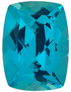 Gemstone Antique Cushion Shape Paraiba Passion Topaz Genuine Cut Quality Gemstone Grade AAA, 10.00 x 8.00 mm in Size