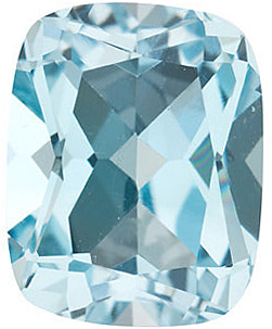 Standard Size Genuine Loose Antique Cushion Shape Sky Blue Topaz Gemstone Grade AAA, 8.00 x 6.00 mm in Size, 1.7 Carats