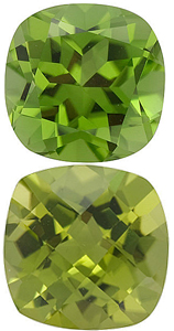 <b>Peridot Antique Square Cut - Calibrated</b>