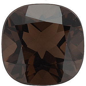 Antique Square Cut Smokey Quartz in Grade AAA