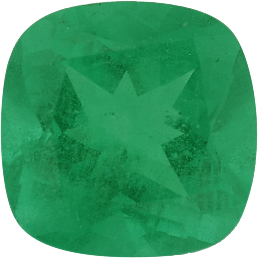 5.51 x 5.48 mm, Emerald Loose Gemstone in Antique Square Cut, Bluish Green, 0.61 carats