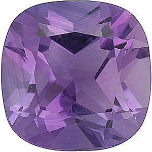 Antique Square Genuine Amethyst in Grade A
