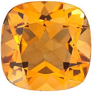 Antique Square Genuine Citrine in Grade AA