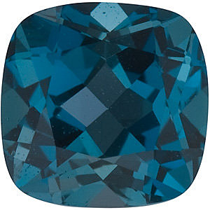 Antique Square Genuine London Blue Topaz in Grade AAA