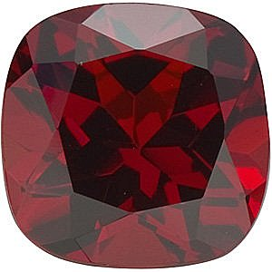 Antique Square Genuine Red Garnet in Grade AAA