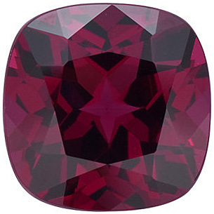 Antique Square Genuine Rhodolite Garnet in Grade AAA