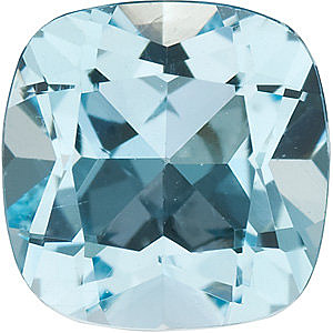 Antique Square Genuine Sky Blue Topaz in Grade AAA