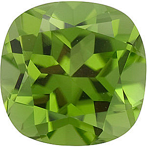 Antique Square Peridot in Grade AAA