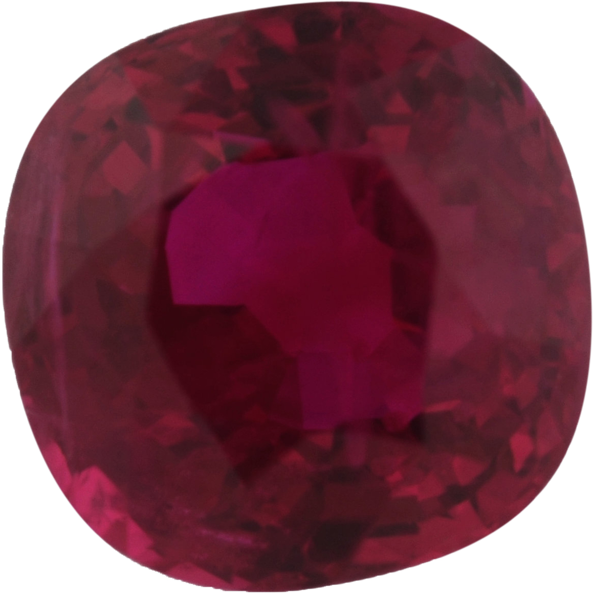 5.57 x 5.54 mm, Ruby Loose Gemstone in Antique Square Cut, Brownish Red, 1.11 carats