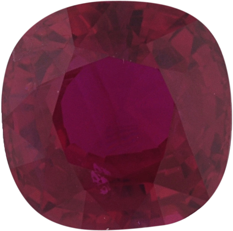 1.19 carats Antique Square Cut Genuine Ruby Gem, Strong Red, 5.96 x 5.88 mm