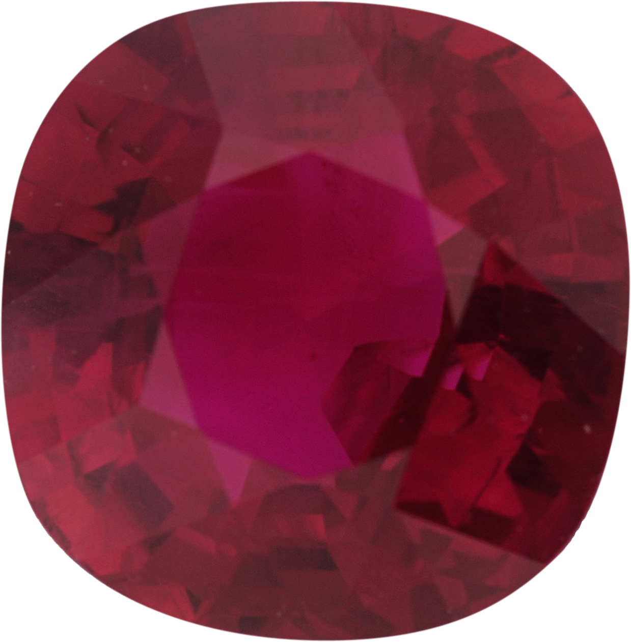 1.1 carats Antique Square Cut Genuine Ruby Gem, Brownish Red, 6.2 x 6.1 mm